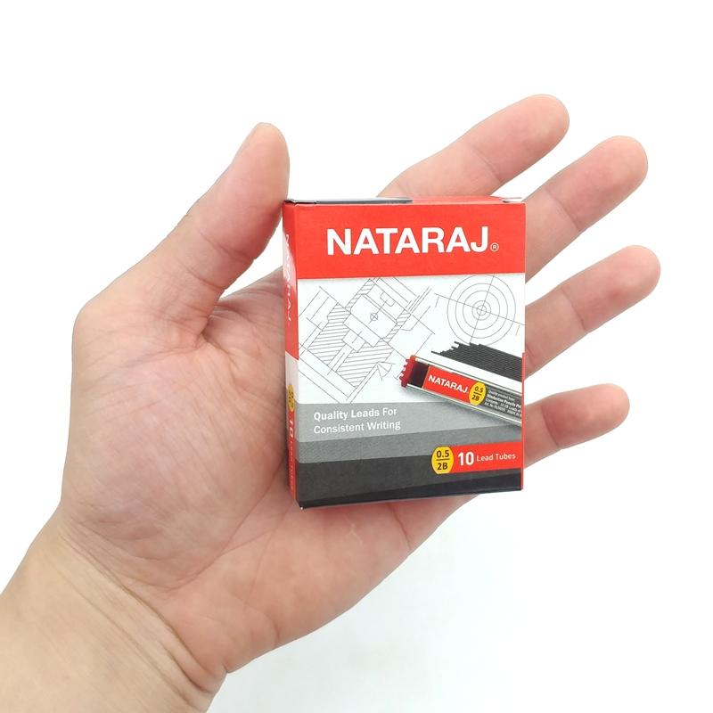 Ruột Bút Chì Bấm 2B 0.5mm - Nataraj 402479