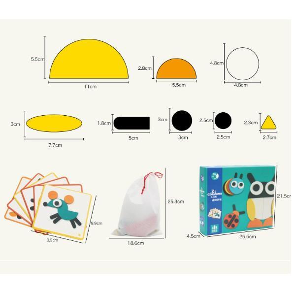 Đồ chơi Bộ tranh ghép hình Montessori Fun Board cho bé