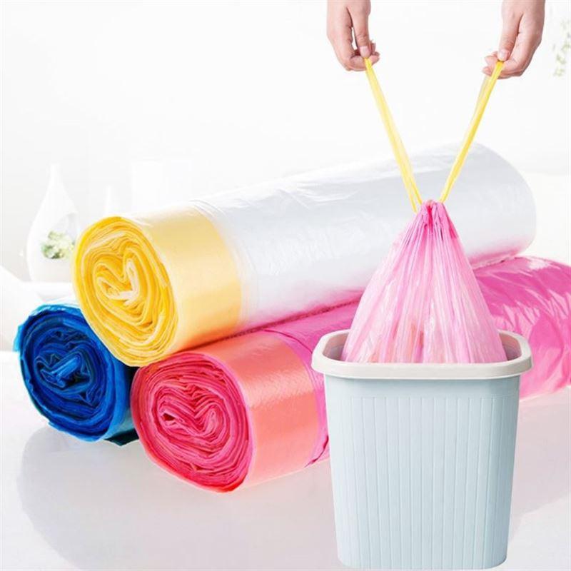 Combo 10 cuộn túi đựng rác có dây rút