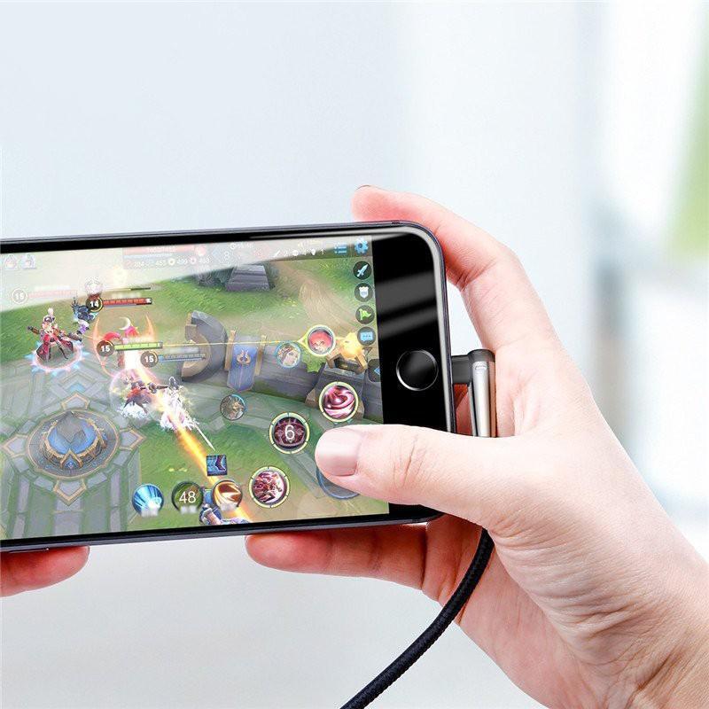 Cáp sạc nhanh và truyền dữ liệu  cho iPhone/ iPad- 2.4A Max- Baseus Sharp Bird Lightning - Hàng Chính Hãng