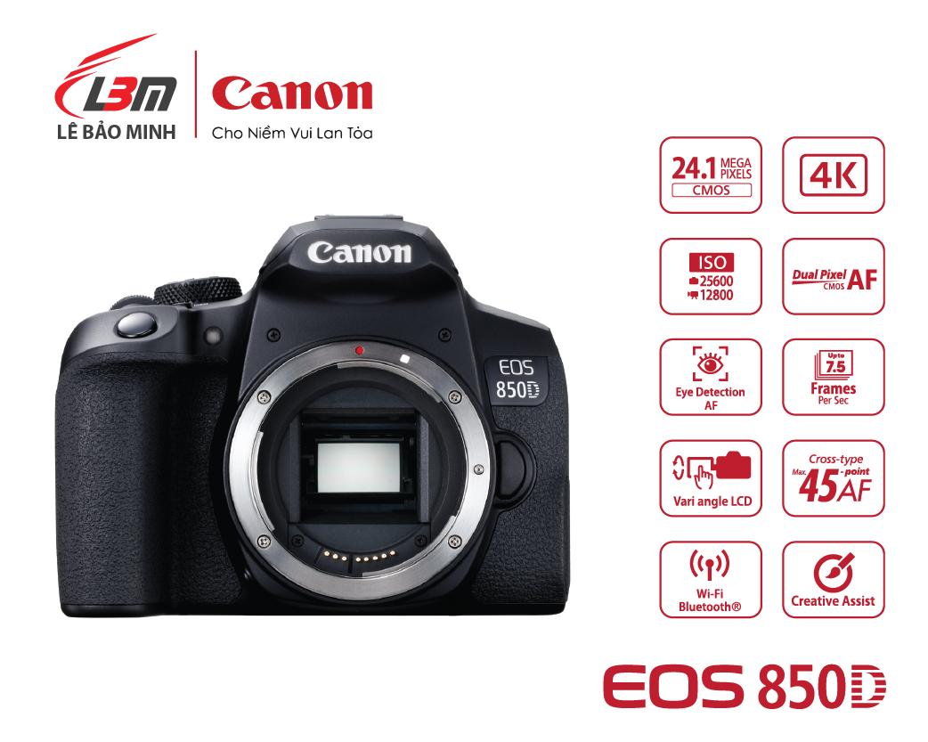 Máy ảnh Canon EOS 850D KIT 18-55mm - Hàng Chính Hãng LBM