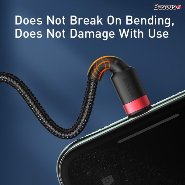 Cáp sạc nhanh 2 đầu cho iPhone Baseus Cafule USB + Type-C to Lightning 2-in-1 (5V/2.4A/ 18W PD, Fast charge Cable) - Hàng nhập khẩu