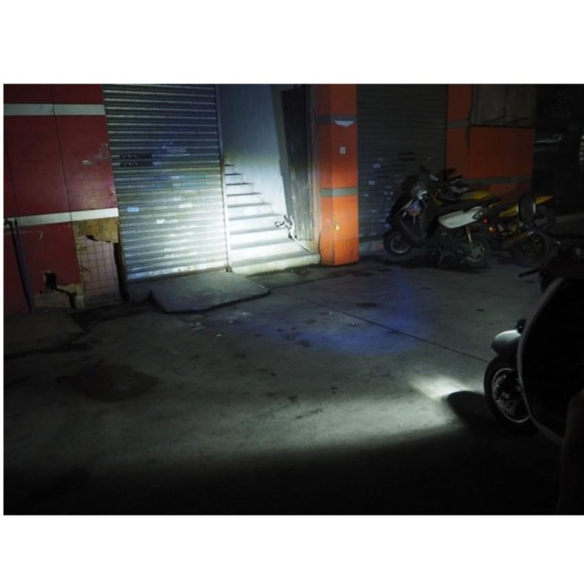Đèn pha led 3 chân H4 gắn pha xe máy