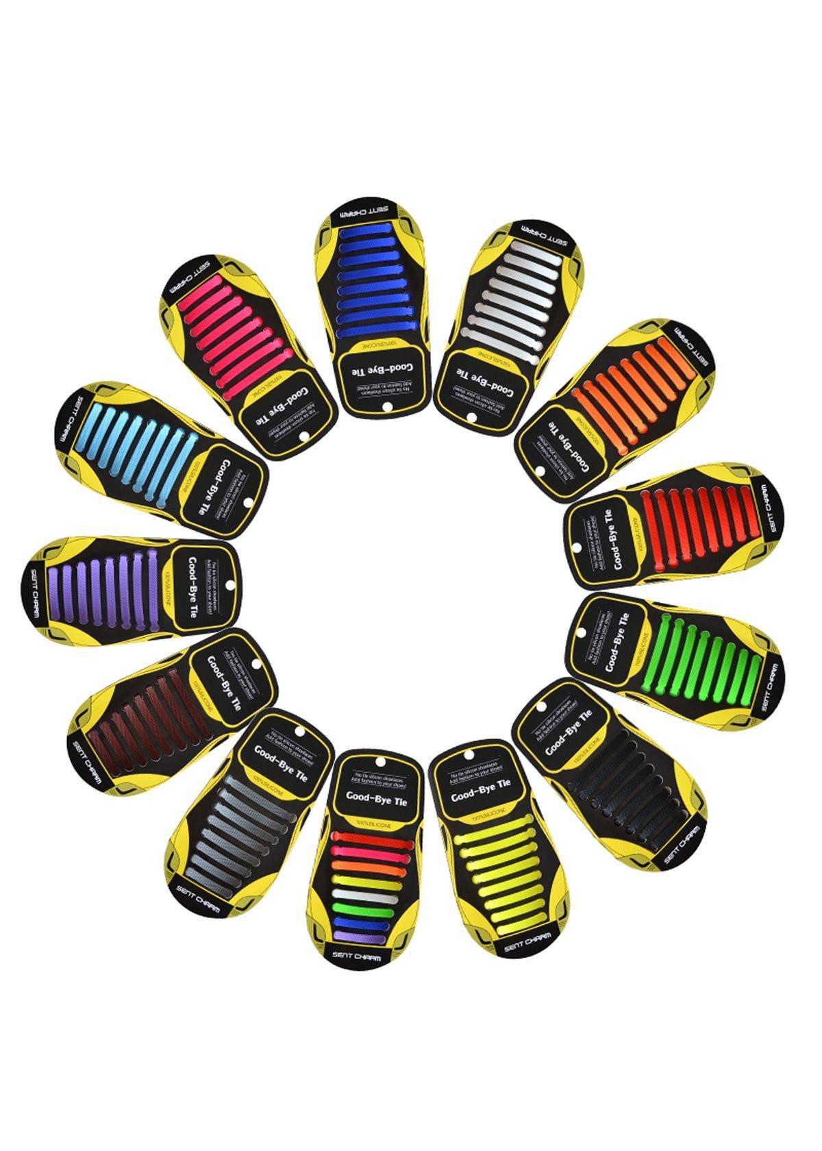 Dây giày cao su siêu thông minh SENT CHARM – Bộ 16 dây