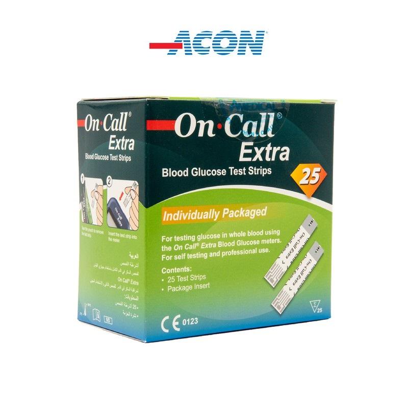 Que thử đường huyết Acon On-call extra (25 que/hộp)