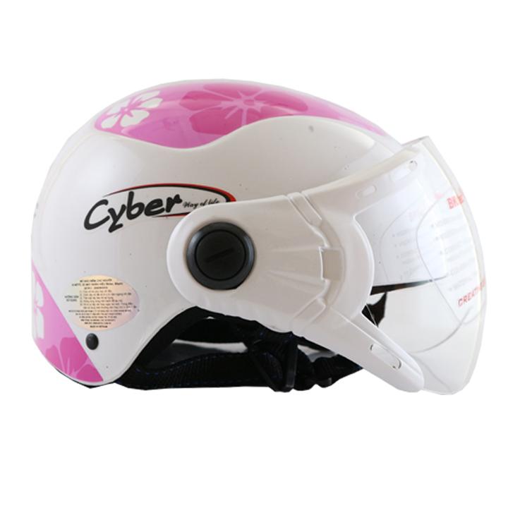 Mũ bảo hiểm nửa đầu có kính chính hãng BKtec nón bảo hiểm cao cấp
