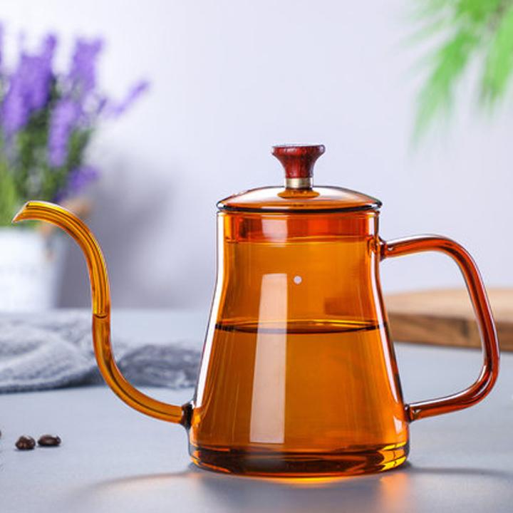 Bình thủy tinh pha trà, cafe  phong cách châu âu nhiệt cao 2020MC4