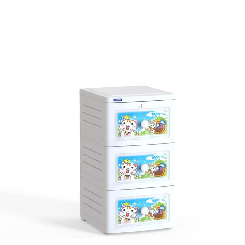 Tủ nhựa Duy Tân Tano 3 ngăn No.221/3 (40 x 45 x 74 cm) Màu sắc - Họa tiết ngẫu nhiên