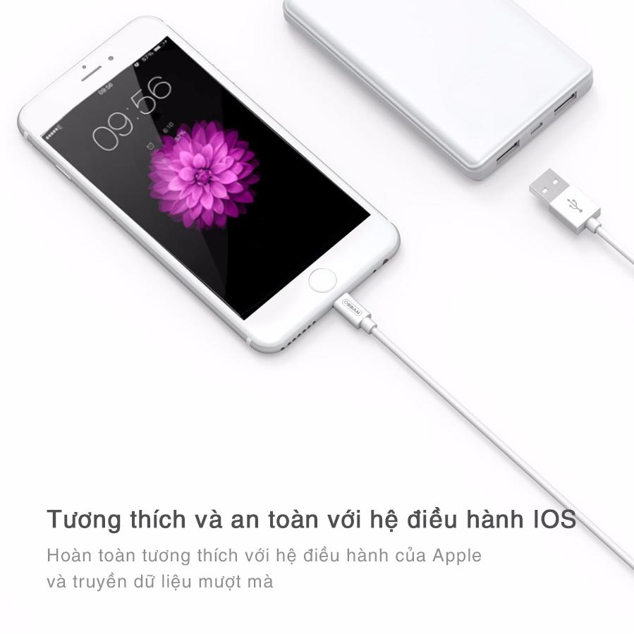 Dây cáp sạc nhanh Lightning Ossan dài 1m SAMURAI OS-C4I100 dành cho Iphone/Ipad - Hàng chính hãng