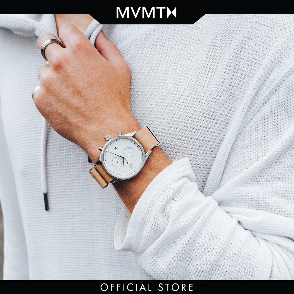 Đồng hồ Nam MVMT dây da 42mm - Voyager D-MV01-WT
