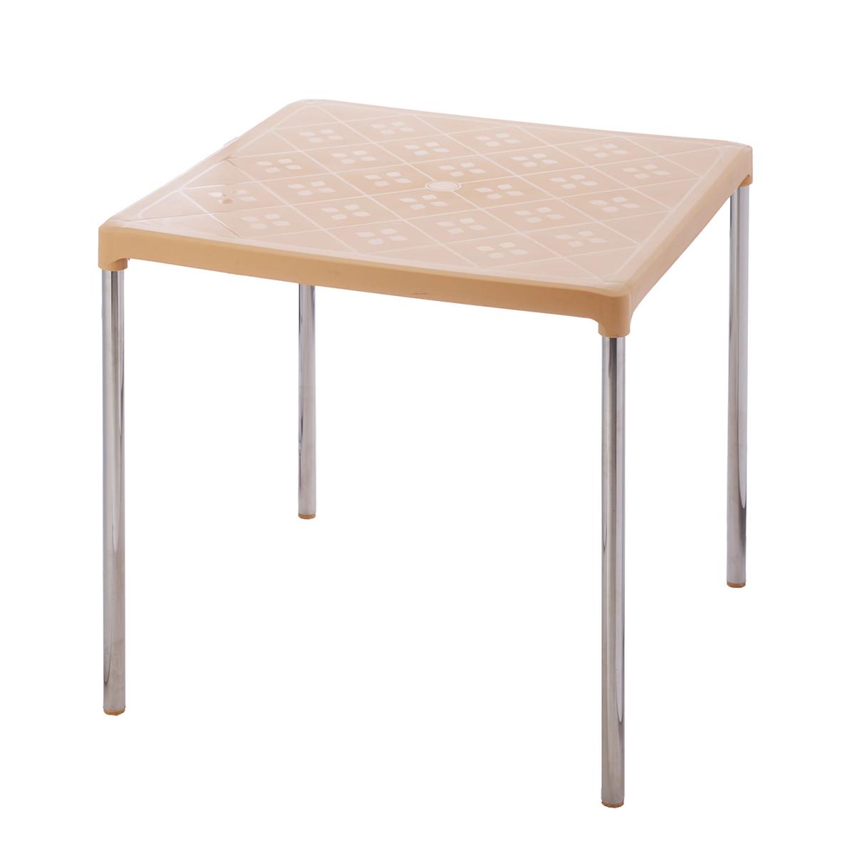 Bàn vuông chân Inox Duy Tân 75 x 75 x 72 cm No.347 Giao màu ngẫu nhiên