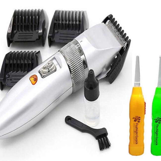 Tông đơ cạo râu, cắt tóc KM- 27C tặng kèm 2 dụng cụ lấy ráy tai có đèn