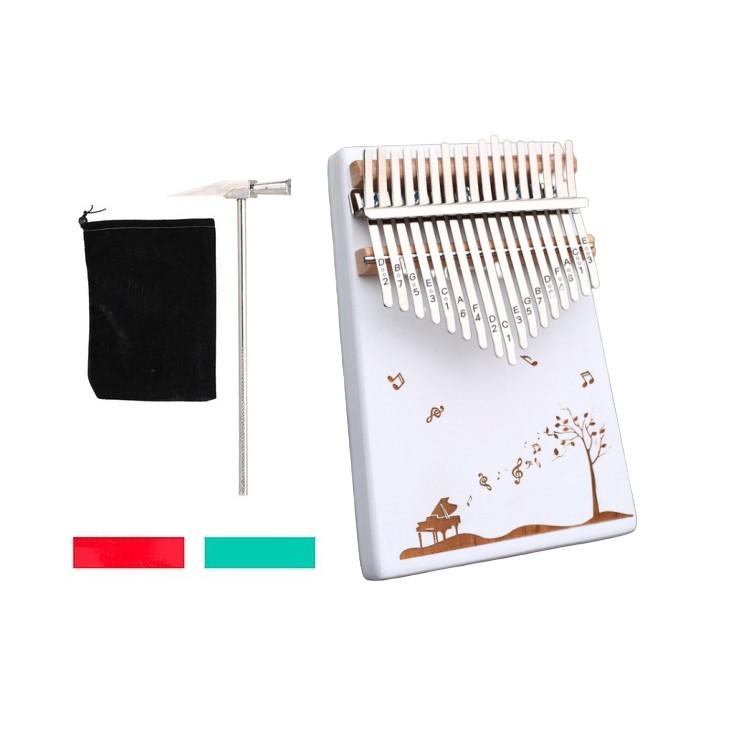 Đàn Kalimba 17 phím gỗ nguyên khối Mahagony PJLIM78-Tặng túi nhung bảo vệ đàn