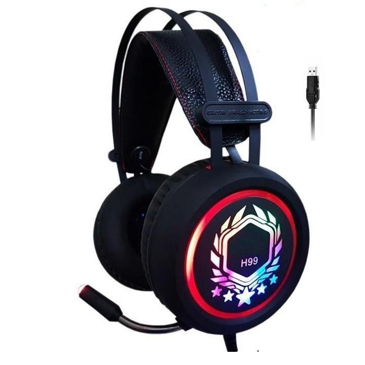 Tai nghe chụp tai Game thủ H99 âm thanh 7.1 kết nối cổng USB