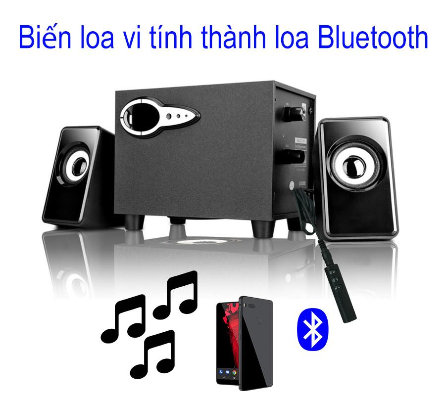 Thiết bị chuyển đổi loa thường thành loa Bluetooth V4.1 kèm Jack 3.5 PF98 Đen