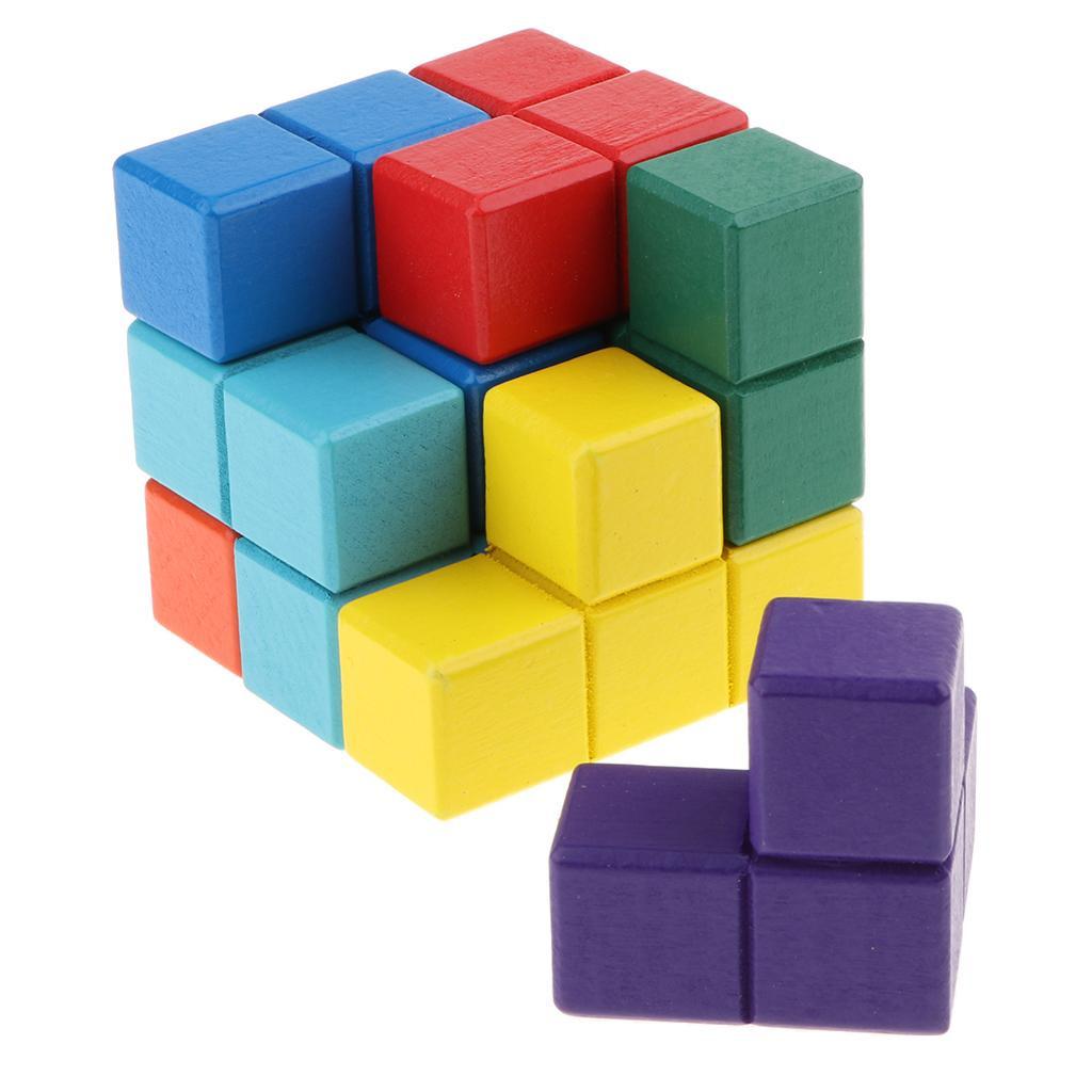 ĐỒ CHƠI GỖ - Bộ Đồ Chơi Xếp Rubik 7 Màu Winwintoys 60132 - Kích Thích Trí Não, Tạo Cho Bé Sự Khéo Léo Nhanh Nhạy