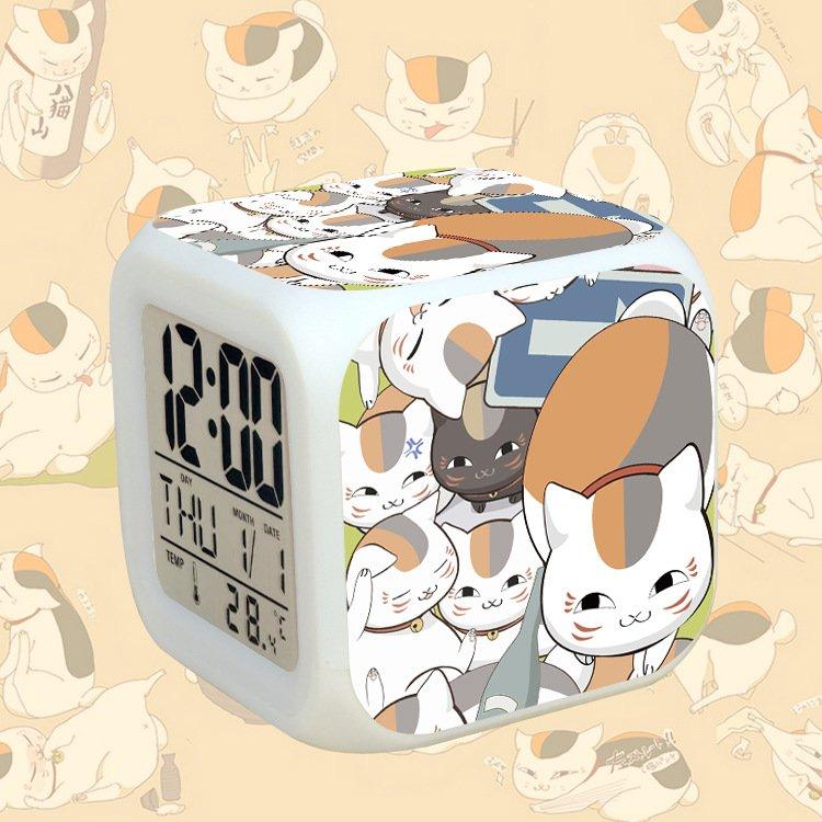 Đồng hồ báo thức để bàn in hình NATSUME YUUJINCHOU Hữu Nhân Sổ LED đổi màu tiện lợi chibi anime