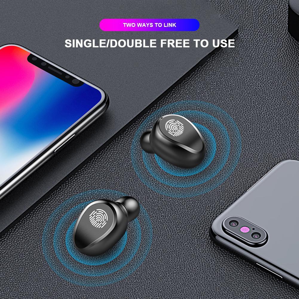 Tai nghe Bluetooth Không Dây True Wireless AMOI F9 V5.0 kèm Hộp sạc Nghe 90h Tự Động Kết Nối - Hàng chính hãng