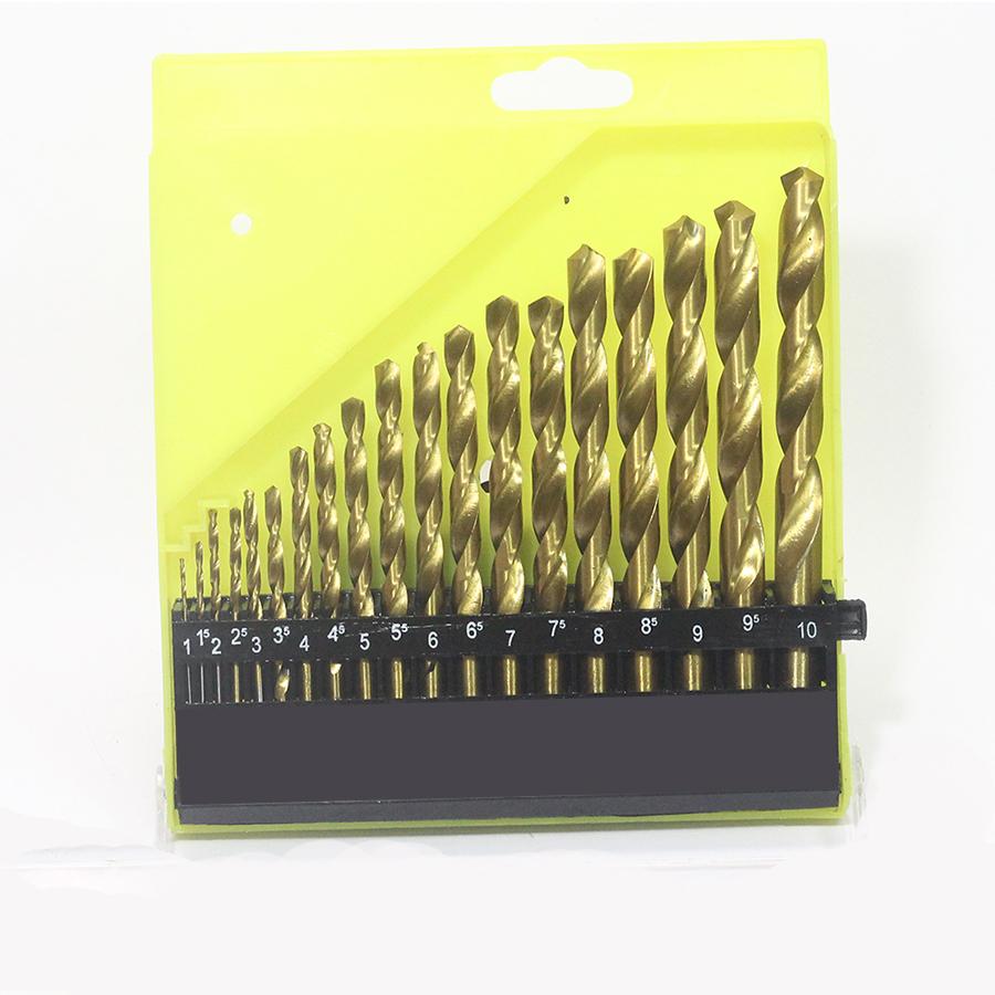 Bộ Mũi Khoan 19 Mũi Vàng Từ 1mm-10mm