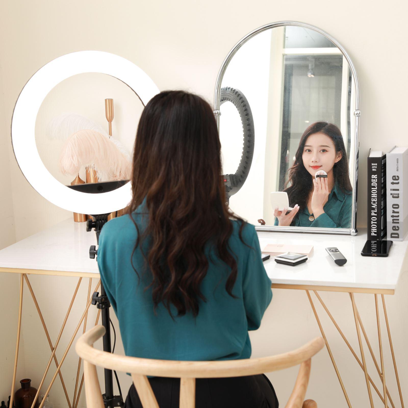 Đèn livestream 45Cm, Đèn Led Trợ Sáng, Chiếu Sáng Studio, Makeup, Quay Phim , Chụp Ảnh, Livetream, Selfie, Xăm nghệ thuật Kèm Kẹp Điện Thoại Tùy Chỉnh