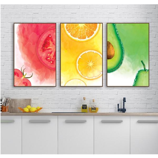 Tranh Trang Trí Trái Cây- Trang Canvas Treo Tường