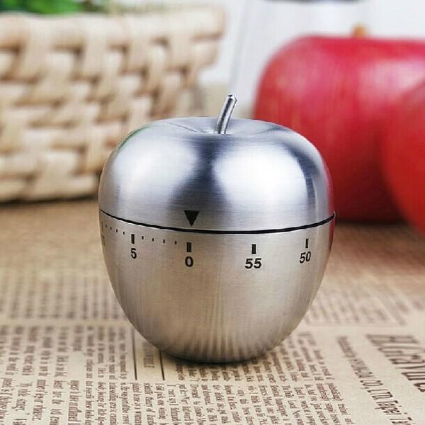 Đồng hồ cơ đếm ngược hẹn giờ hình quả táo, dùng trong công việc, nhà bếp... - Tặng 1 lọ tinh dầu quế 10ml