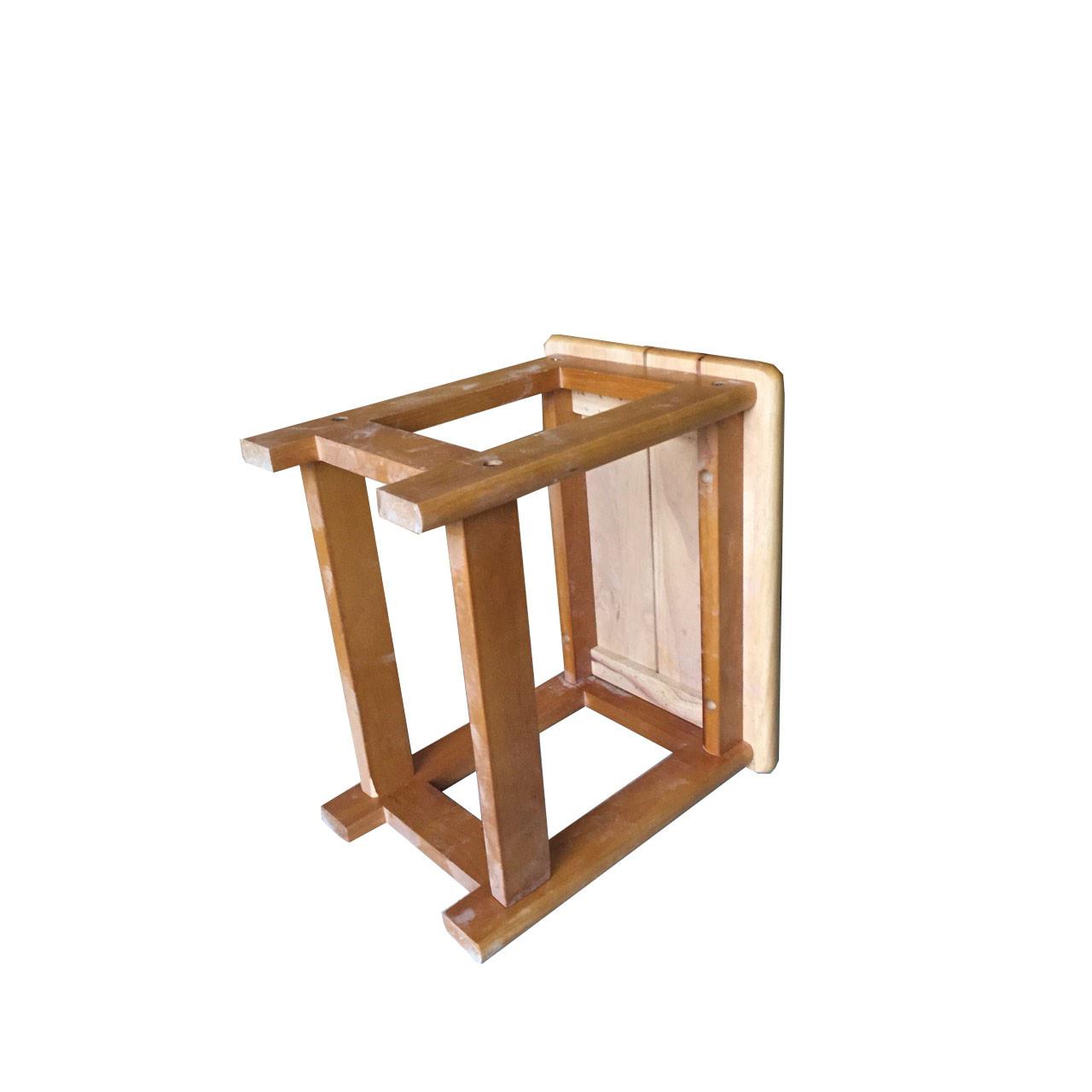 Ghế đôn gỗ cao su 100%