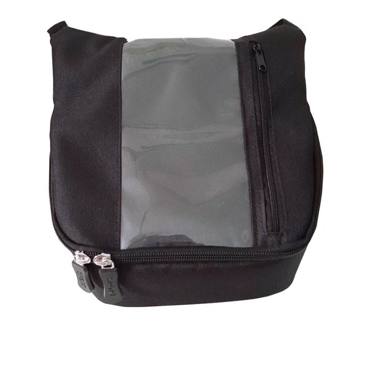 Túi treo đầu xe máy vải bố mẫu đứng, túi ghi đông treo đầu xe máy chuyên dụng cho Grap,Goviet, bee anh em xe ôm công nghệ