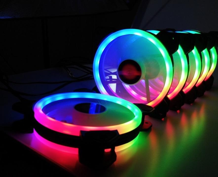 Bộ 5 Quạt + Khiển Coolmoon RGB V2 - Hàng nhập khẩu