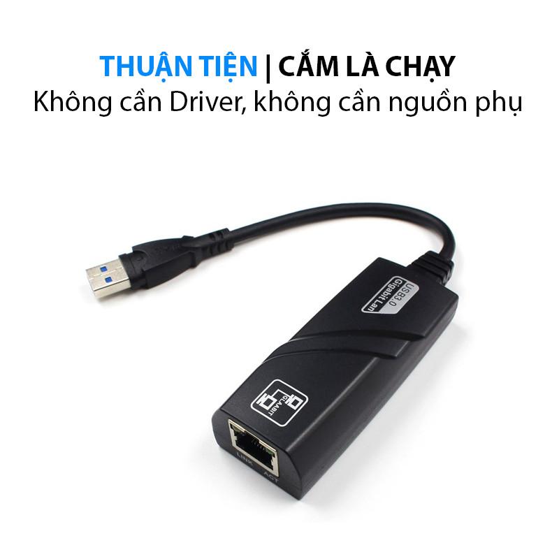 Cáp chuyển đổi USB 3.0 to LAN Gigabit 100/1000 Mbps
