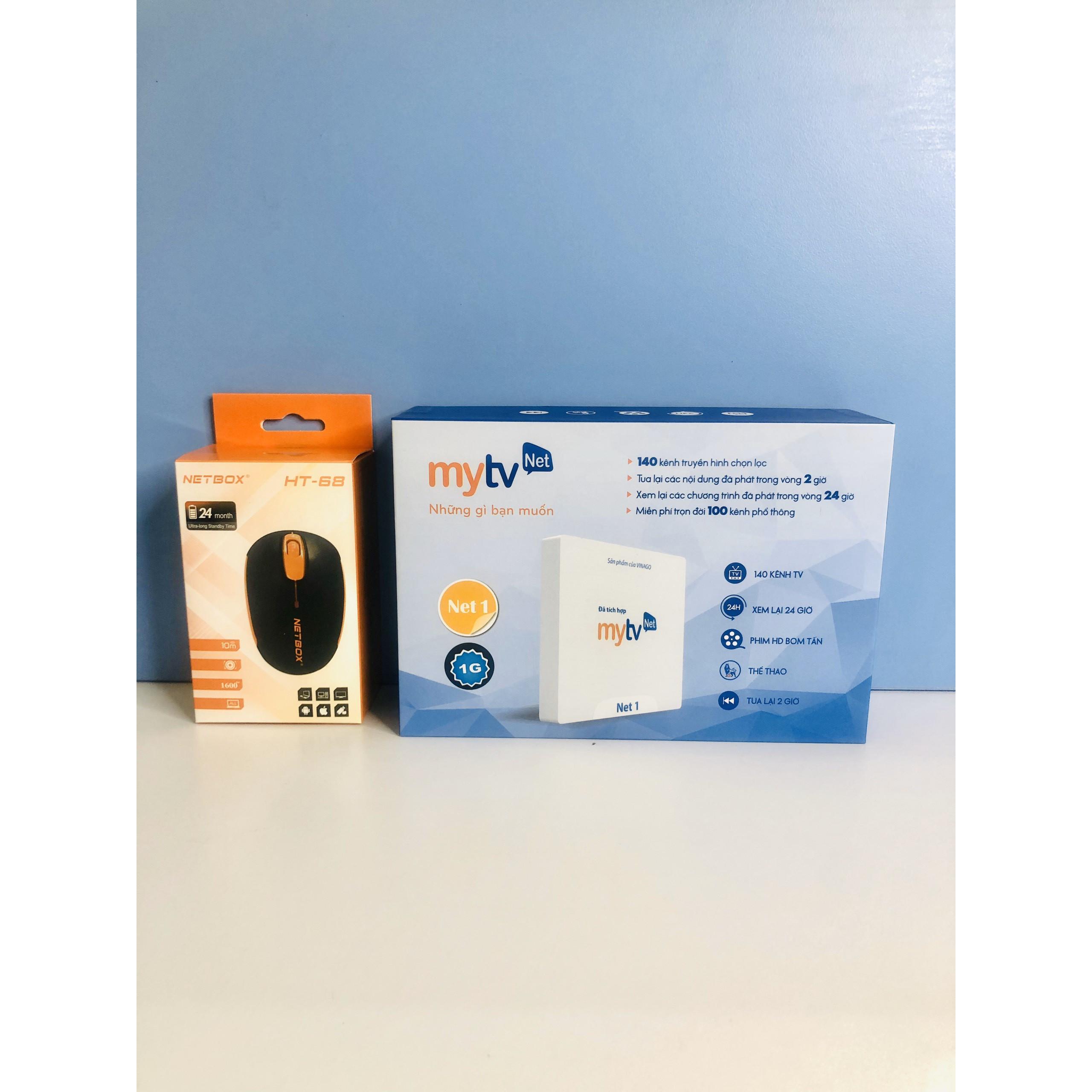Hộp Android tivi box MyTVNet Net 1,chuột không dây - Hàng Chính Hãng