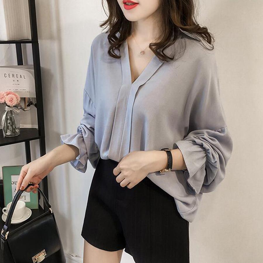 Áo Sơ Mi Nữ Thời Trang Hàn Quốc Dáng Rộng Xinh Lung Linh - Ohazo! AG 50