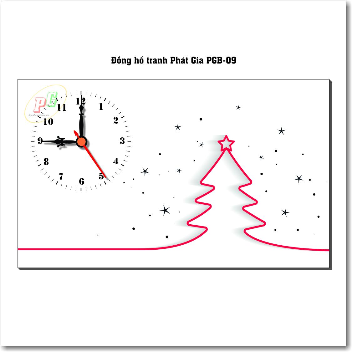 Đồng hồ tranh để bàn PGB-09