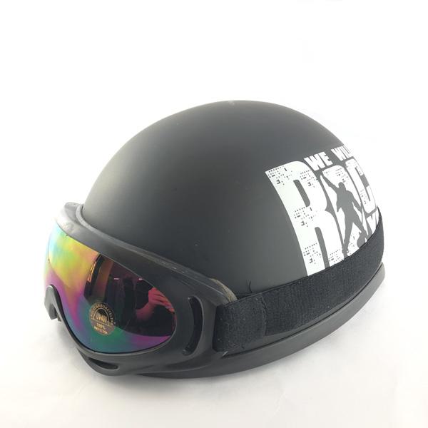 Mũ Bảo Hiểm 1/2 Bopa Rock Nhiều Màu + Kính UV