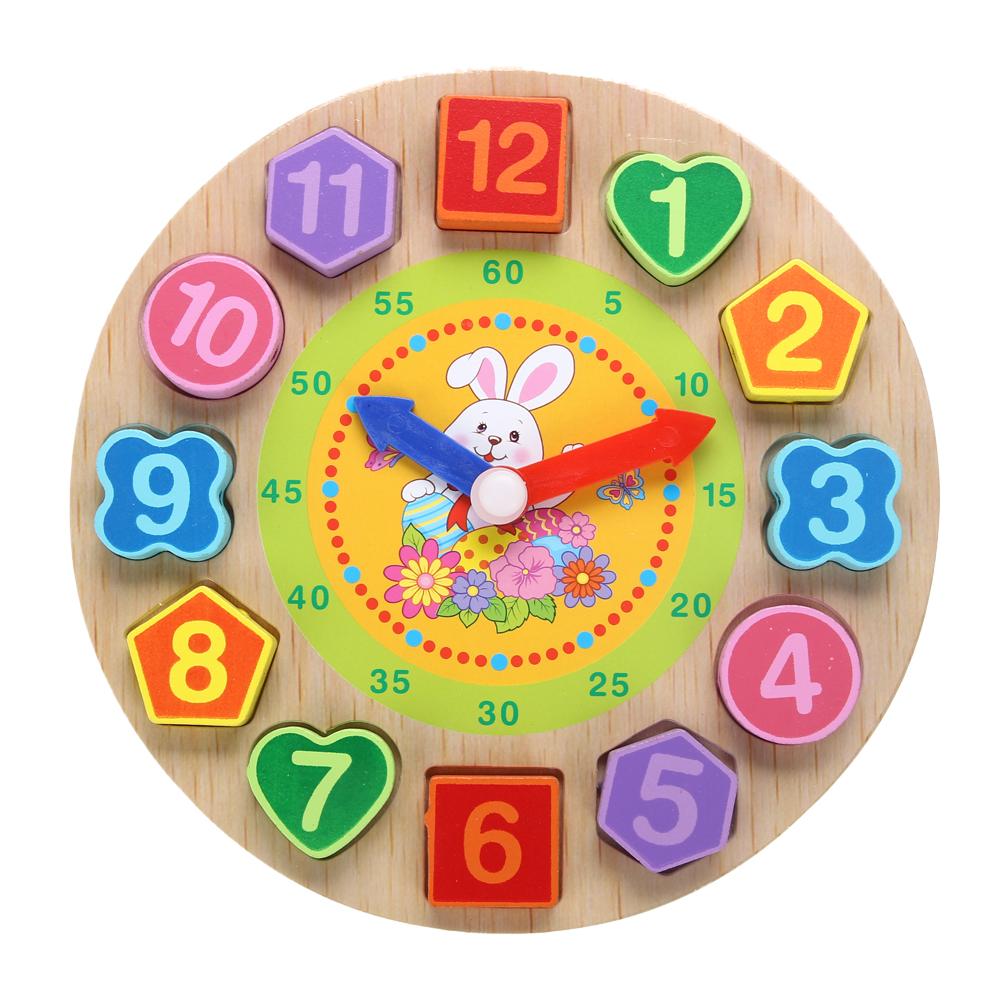 Đồng hồ xâu dây đồ chơi gỗ cho bé