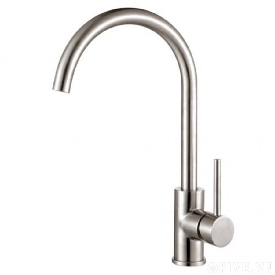 Vòi rửa chén bát nóng lạnh Inox SUS 304 tặng 2 dây cấp nước nóng lạnh (60 cm)