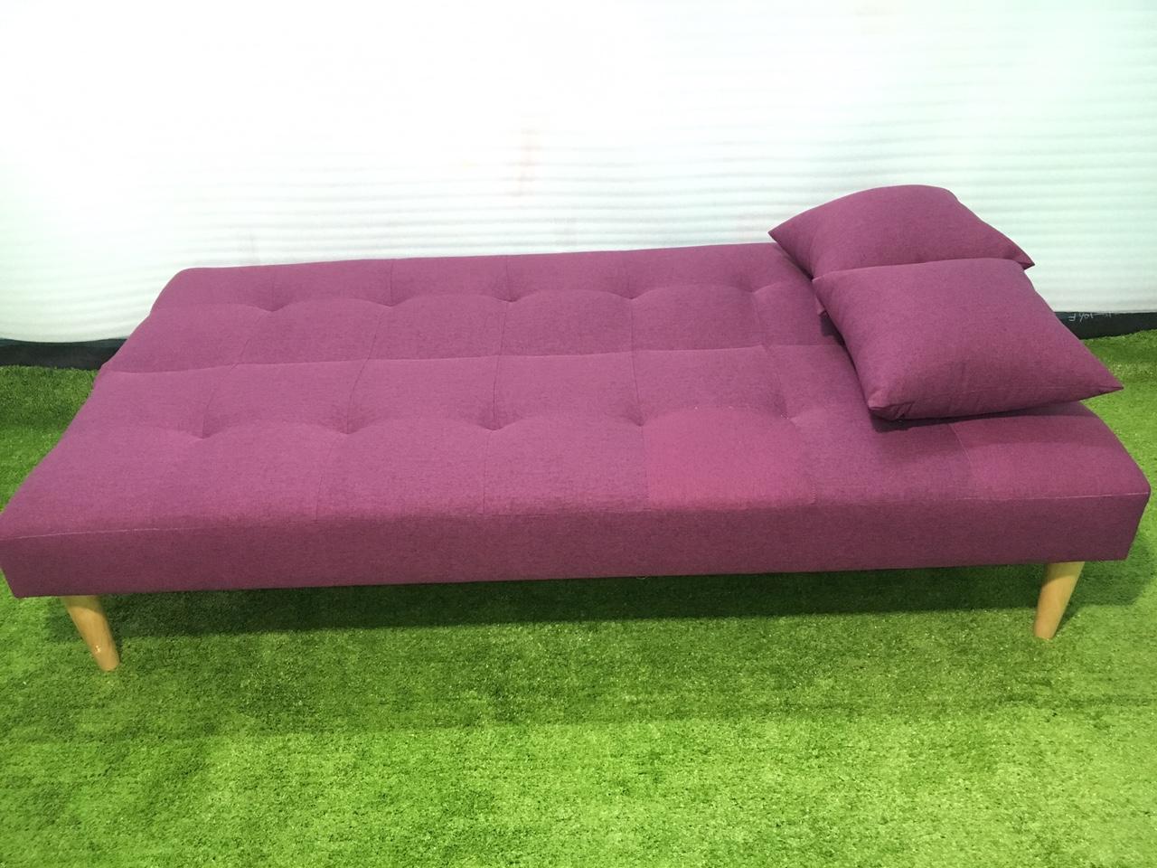 Ghế sofa bed bố tím BT 1m7x90, sofa giường phòng khách, salon, sopha, sa lông, sô pha