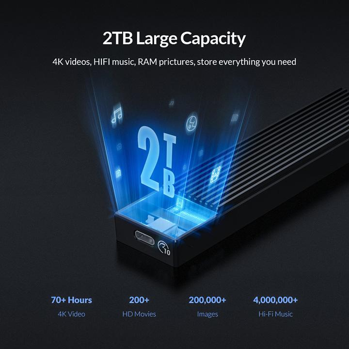 Box M.2 PCIe NVMe USB3.1 type-C vỏ nhôm cao cấp M2PV-C3 - BX48