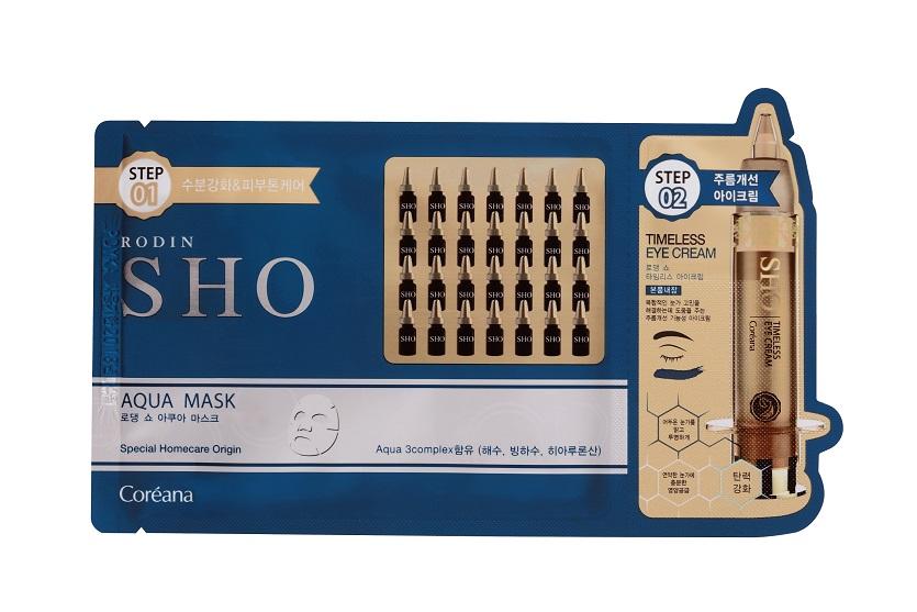 Combo 5 miếng Mặt nạ cấp ẩm chống lão hóa 2 bước RODIN SHO AQUA MASK 2 - Step