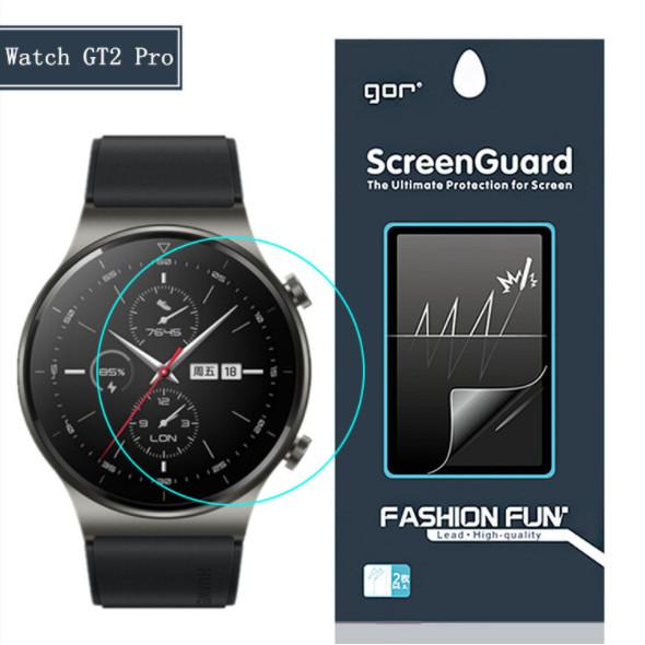 Bộ 3 Miếng Dán Dẻo GOR cho Huawei Watch GT2 Pro (Bộ 3 Miếng) _ Hàng nhập khẩu