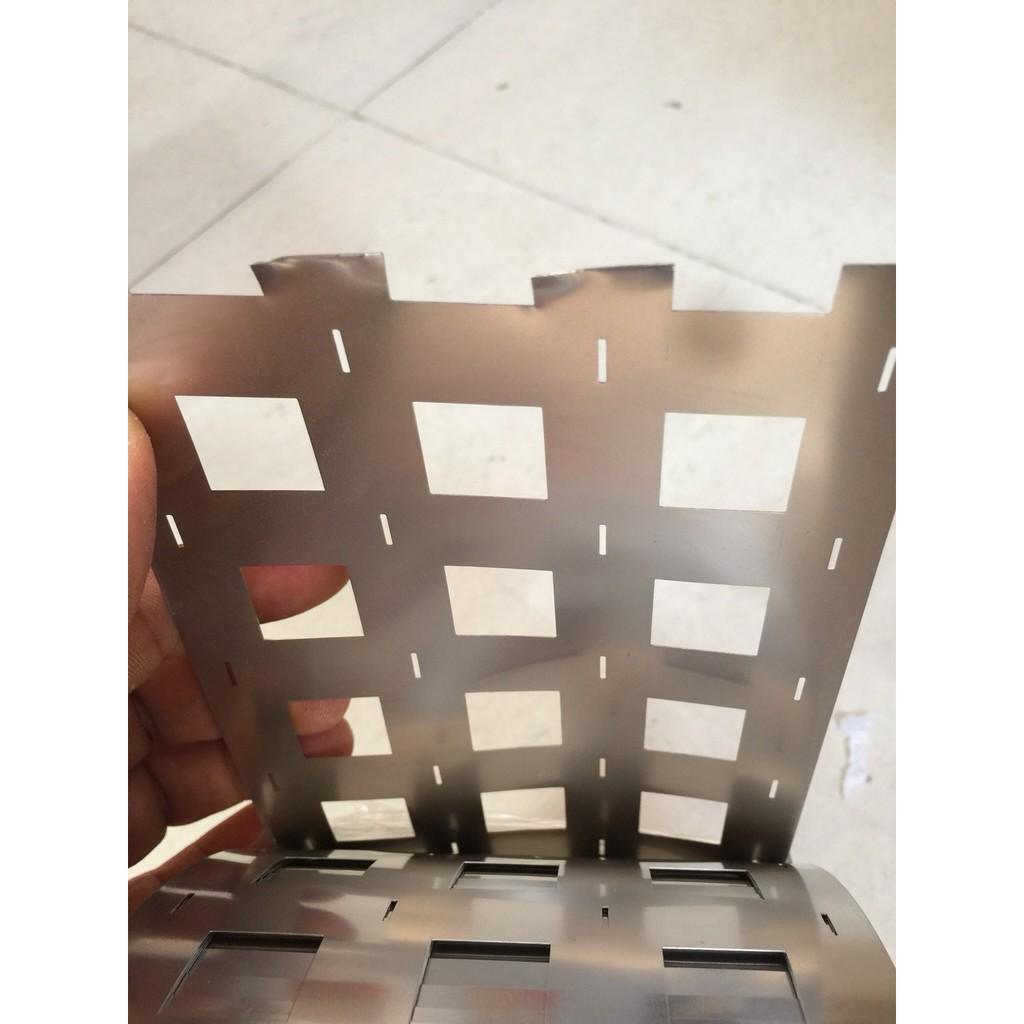 Kẽm Nickel hàn 4P dày 0.2x116.5x34.5mm pin 32650