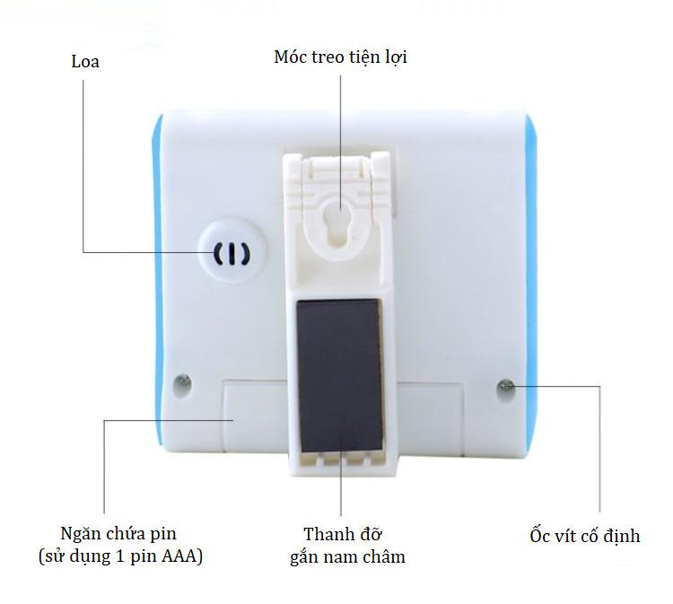 Đồng hồ điện tử mini hẹn giờ tập thể dục thể thao- Giao màu ngẫu nhiên (Tặng móc khóa đa năng 3in1)