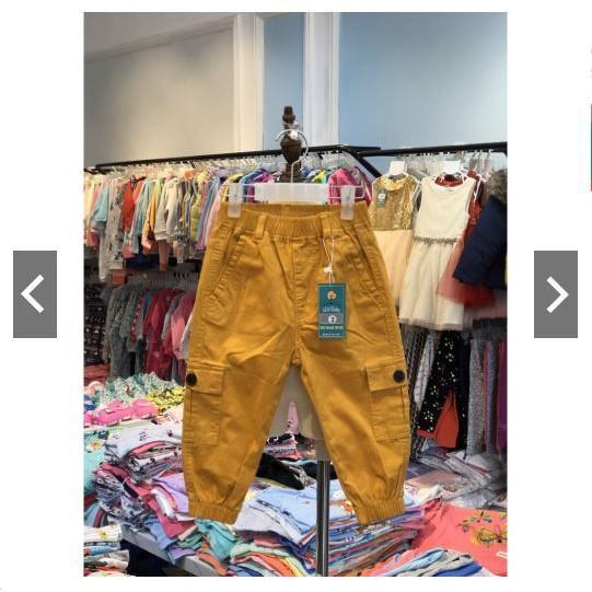 Quần Kaki bé trai có túi, cạp chun size 2-7 dành cho bé từ 11-23kg, có size đại