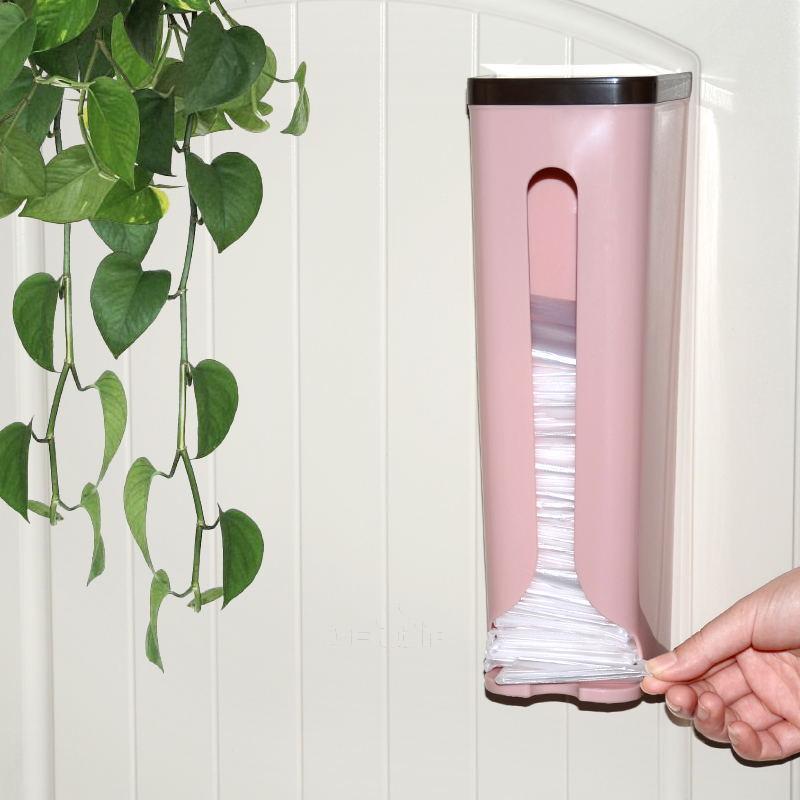 Hộp dán tường đựng giấy vệ sinh, túi nilong tiện dụng hiện đại (Màu ngẫu  nhiên)- Tặng 1 móc hít chân không. | Tiện ích 1708 | Tiki