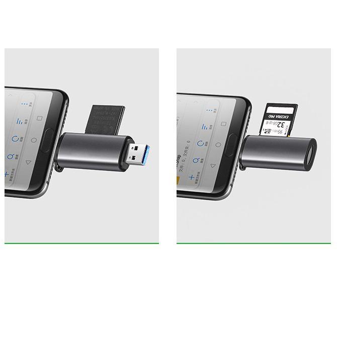 Đầu Đọc Thẻ Type C, USB 3.0 Thẻ Đọc 2 chiều TF Và SD