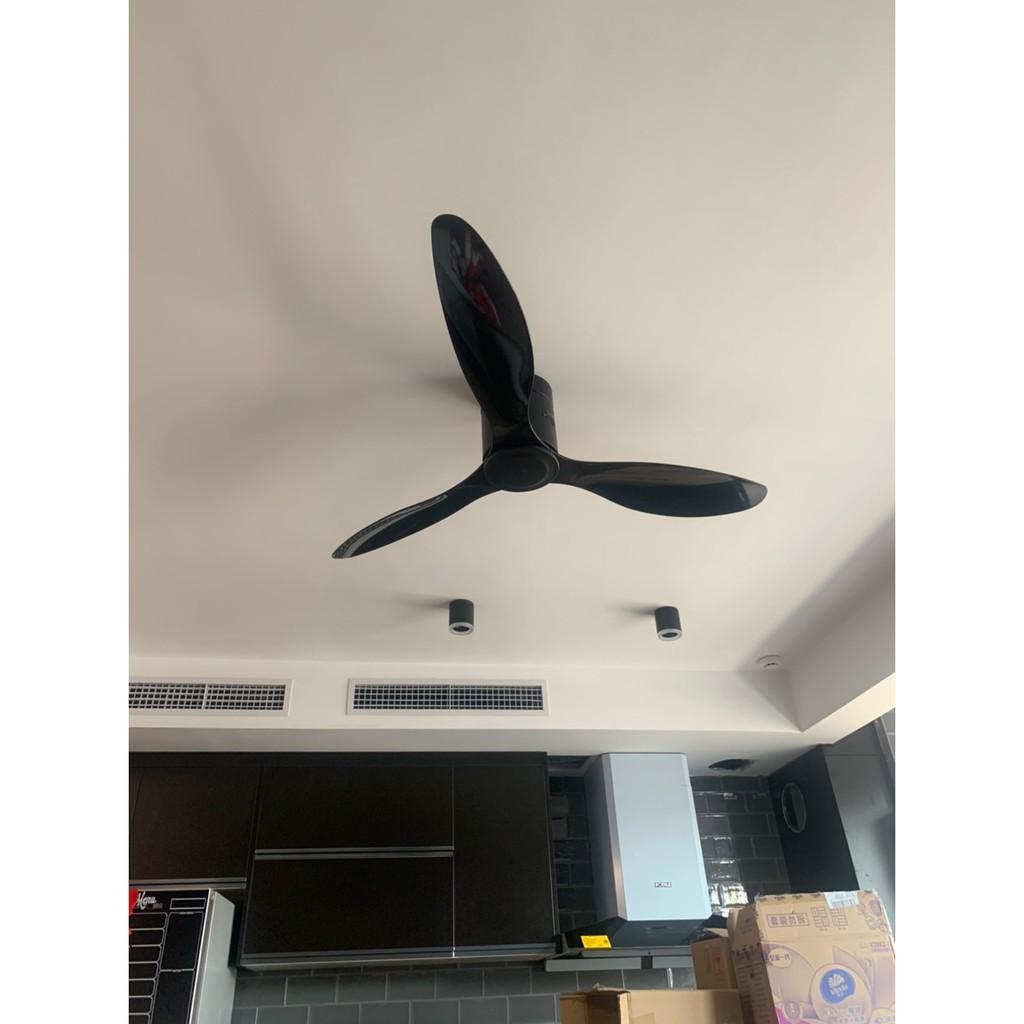 Quạt trần dành cho Trần Nhà THẤP 52DY-110BK - Quạt trần Hiện Đại sang trọng, tinh tế lắp đặt phòng khách, phòng ngủ