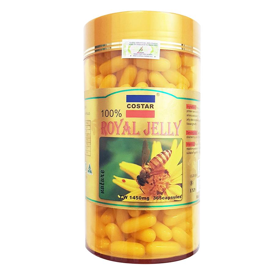 Thực Phẩm Chức Năng Viên Uống Sữa Ong Chúa Costar Royal Jelly 1450mg - Hộp 365 Viên - 8898535968429,62_10759852,892500,tiki.vn,Thuc-Pham-Chuc-Nang-Vien-Uong-Sua-Ong-Chua-Costar-Royal-Jelly-1450mg-Hop-365-Vien-62_10759852,Thực Phẩm Chức Năng Viên Uống Sữa Ong Chúa Costar Royal Jelly 1450mg - Hộp 365 Viên
