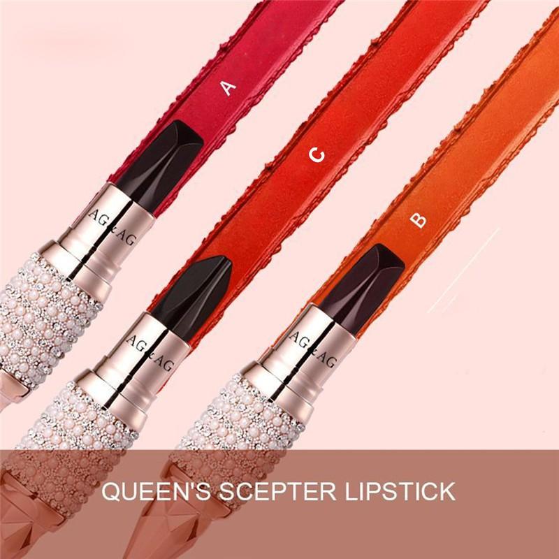 Thỏi son phối hợp 3 màu AGAG  dưỡng ẩm siêu lì, màu sắc thời trang,