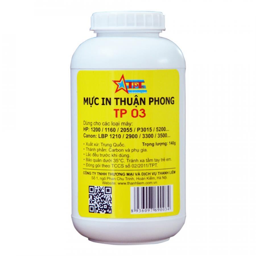 (Bộ 10 chai) Mực đổ Thuận Phong TP03 dùng cho máy in HP / Canon - Hàng Chính Hãng