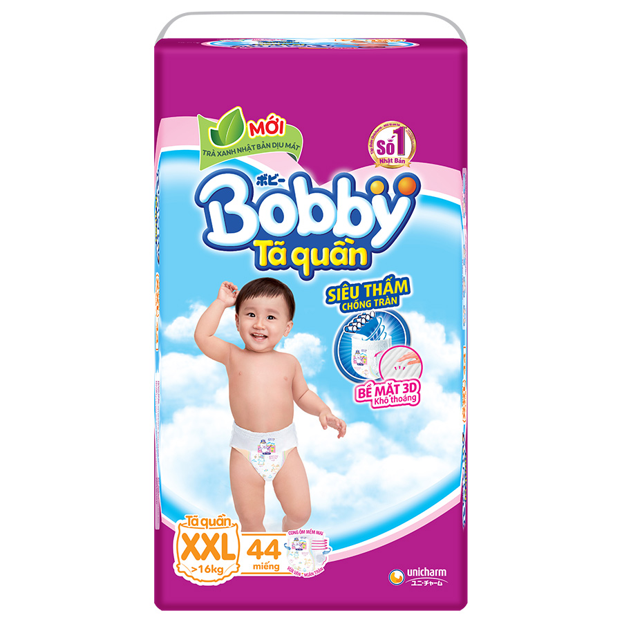 Tã Quần Bobby Gói Cực Đại XXL44 (44 Miếng)
